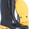 bota pvc cano medio com forro preto e amarelo